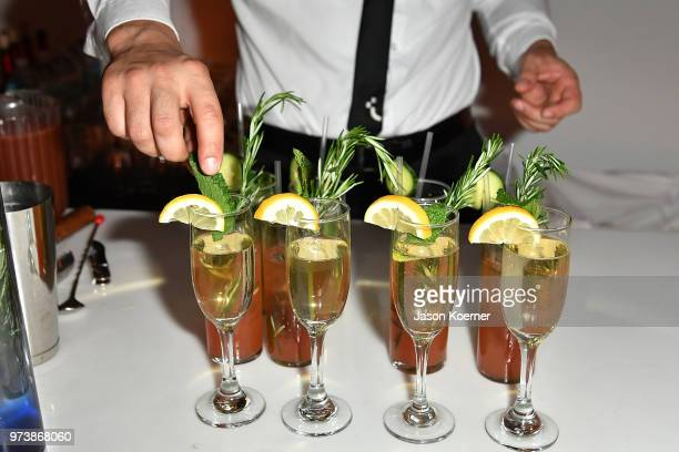 Cocktails on display at the Cadillac Welcome Luncheon At ABFF Black Hollywood Now at The Temple House on June 13 2018 in Miami Beach Florida