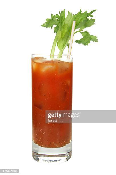 Cocktails on white: Bloody Mary.