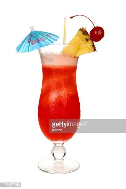 Cocktails on white: Hurricane.
