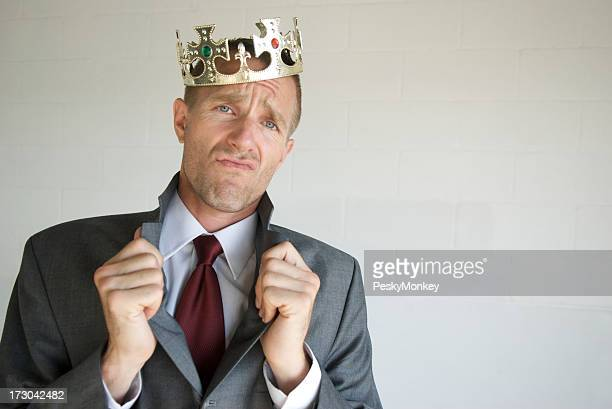 Cocky Businessman King Popping His Royal Collar
