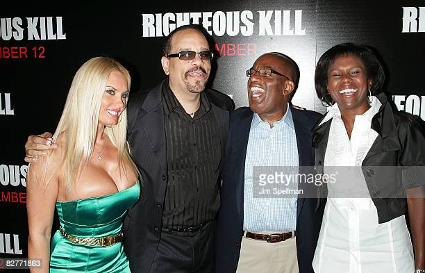 Coco and Actor Ice T Al Roker and wife Deborah Roberts attend the New York premiere of 'Righteous Kill' at the Ziegfeld Theater on September 10 2008...