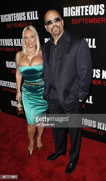 Coco and Actor Ice T attends the New York premiere of 'Righteous Kill' at the Ziegfeld Theater on September 10 2008 in New York City