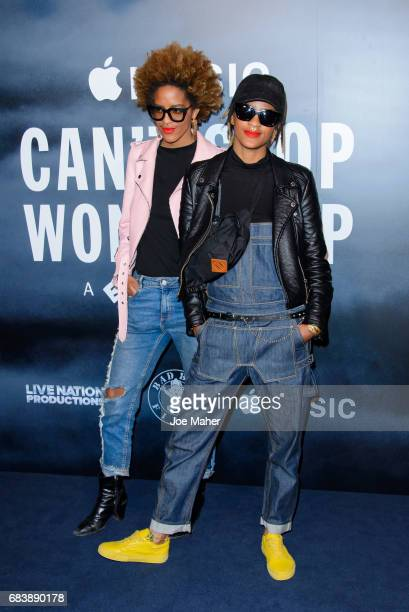 Coco and Breezy attend the London Screening of Can't Stop Won't Stop A Bad Boy Story at The Curzon Mayfair on May 16 2017 in London England