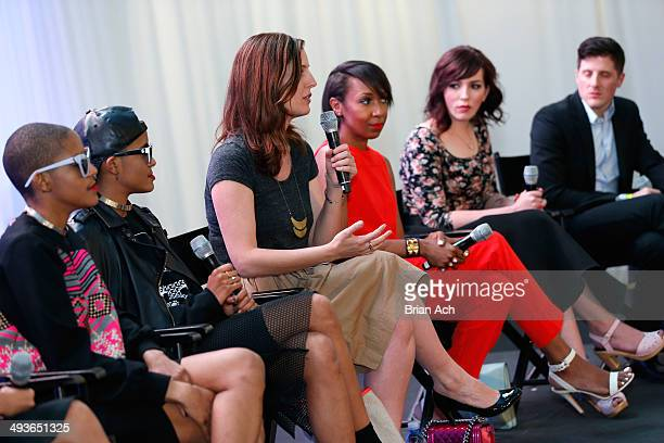 Coco and Breezy Wendy Nguyen Soraya Darabi Karen Blanchard Marlena Stell Karissa Pukas Keiko Lynn and Seth Plattner participate in a panel discussion...