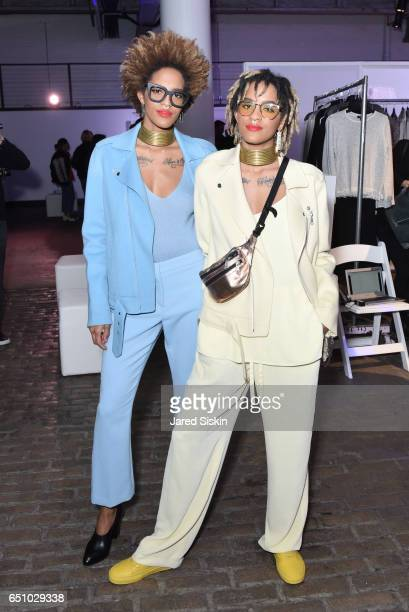 Coco and DJ Breezy attend the Meatpacking District's 4th Annual Open Market at Highline Stages on March 9 2017 in New York City