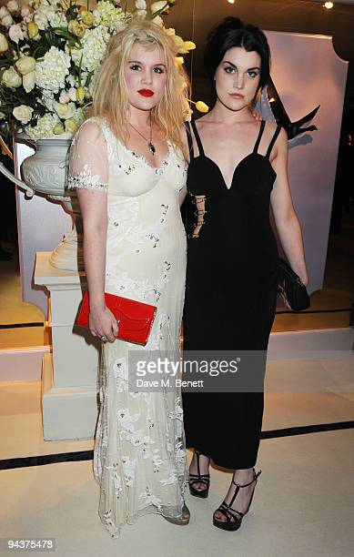 Coco and Emerald Fennell attend the Grey Goose Character Cocktails Winter Fundraiser Ball in aid of the Elton John AIDS Foundation at the Grey Goose...
