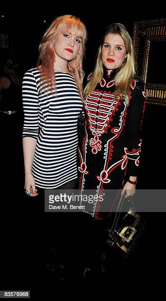 Coco and Emerald Fennell attend the launch party for Tatler's Little Black Book at Tramp on November 5 2008 in London England
