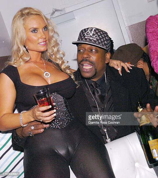 Coco and Grandmaster Caz during Ice T and Coco Host Smooth Magazine Cover Party at Boulevard January 22 2007 at Boulevard in New York City New York...