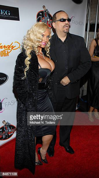CoCo and Ice T attend the LuxuryFashioncom Faces of Fashion Week soiree at RDV on February 17 2009 in New York City