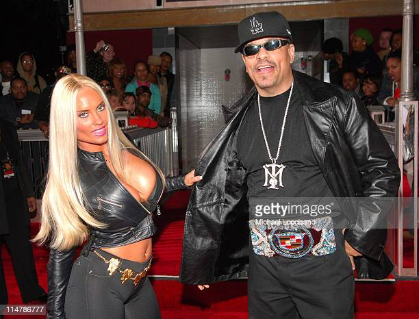 Coco and Ice T during 2006 VH1 Hip Hop Honors Red Carpet at Hammerstein Ballroom in New York City New York United States