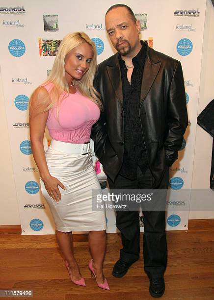 Coco and Ice T during ReIntroduction of PanAm Trendsetter Handbags and the Spring Line of Inkslinger Clothing at 241 West 37th Street in New York...