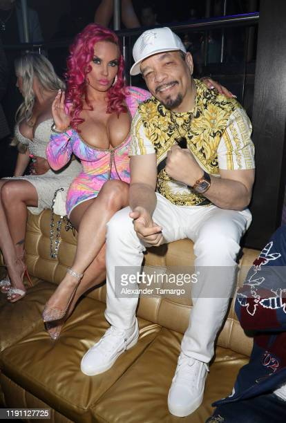 Coco and IceT are seen at E11EVEN Miami during New Year's Eve 2019 on December 31 2019 in Miami Florida