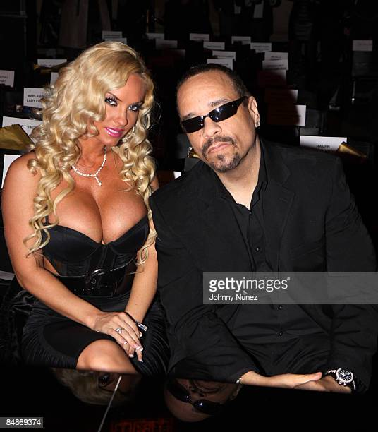 CoCo and IceT attend Baby Phat KLS Collection Fall 2009 during MercedesBenz Fashion Week at Gotham Hall on February 17 2009 in New York City