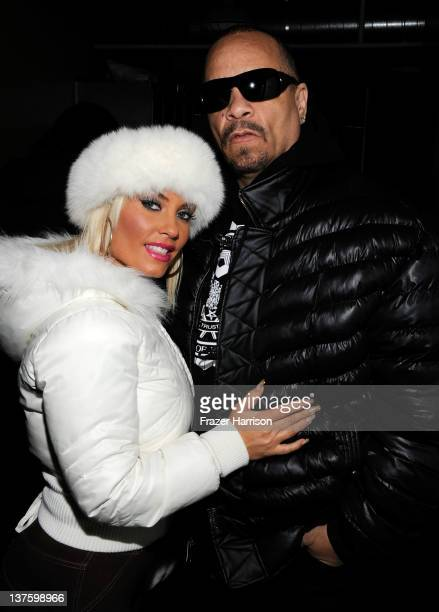 Coco and IceT attend Day 3 of the Stella Artois Lounge by Ally B at TMobile Google Music Village at The Lift on January 22 2012 in Park City Utah