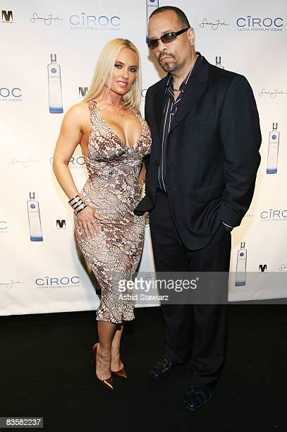"""Coco and Ice-T attend Sean """"Diddy"""" Combs' private birthday party at Mansion on November 5, 2008 in New York City, New York."""