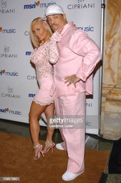 Coco and Ice-T during Mariah Carey's Album Release Party for The Emancipation of Mimi at Ciprianis 5th Avenue in New York City, New York, United...