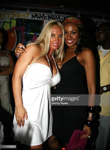CoCo and Janell Snowden VH1 News Anchor during VH1 Soul Presents Kelis was Here VIP Room Inside at Crobar NYC in New York New York United States