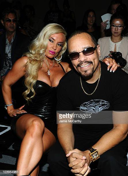Coco and rapper IceT attend the Richie Rich Spring 2011 fashion show during MercedesBenz Fashion Week at The Studio at Lincoln Center on September 9...