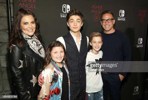 Coco Angel London Angel Asher Angel Avi Angel and Jody Angel attend Asher Angel's 16th Birthday Party Celebration at Blind Dragon on October 28 2018...