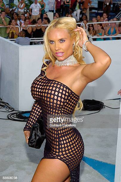 Coco arrives at the 2005 MTV Video Music Awards at the American Airlines Arena on August 28 2005 in Miami Florida