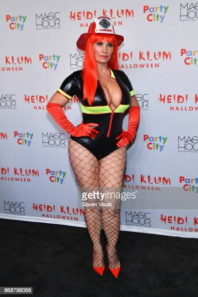 Coco attends Heidi Klum's 18th annual Halloween Party presented by Party City at the Magic Hour Rooftop Bar Lounge on October 31 2017 in New York City
