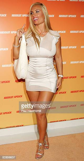 Coco attends the Absolute Apeach launch at the Bryant Park Hotel on May 16 2005 in New York City