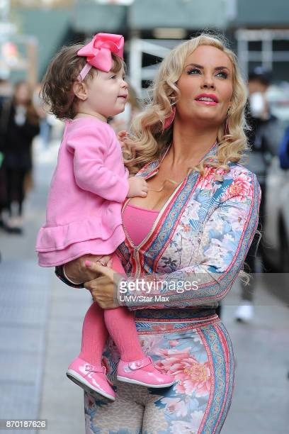 Coco Austin and Chanel Nicole Marrow are seen on November 4 2017 in New York City