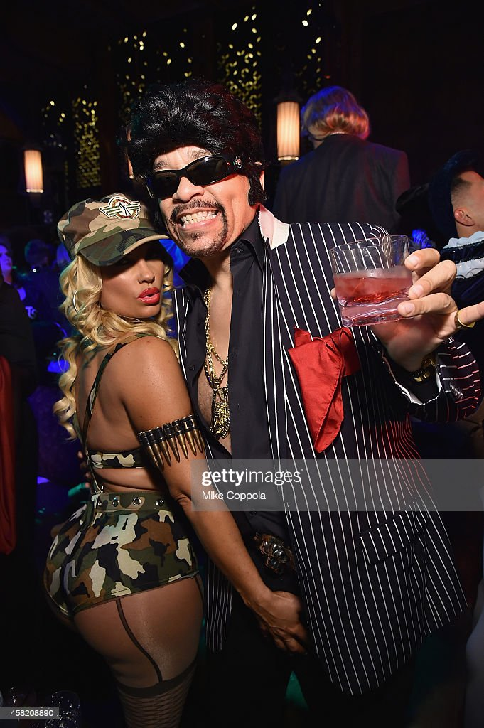 Coco Austin and Ice T attend Moto X presents Heidi Klum's 15th Annual Halloween Party sponsored by SVEDKA Vodka at TAO Downtown on October 31, 2014 in New York City.