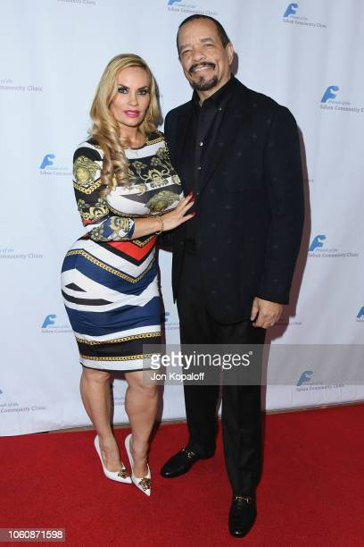 Coco Austin and IceT attend Friends Of The Saban Community Clinic's 42nd Annual Gala at The Beverly Hilton Hotel on November 12 2018 in Beverly Hills...