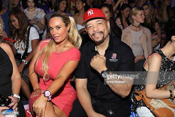 Coco Austin and IceT attend the KYBOE fashion show during New York Fashion Week The Shows at The Arc Skylight at Moynihan Station on September 10...