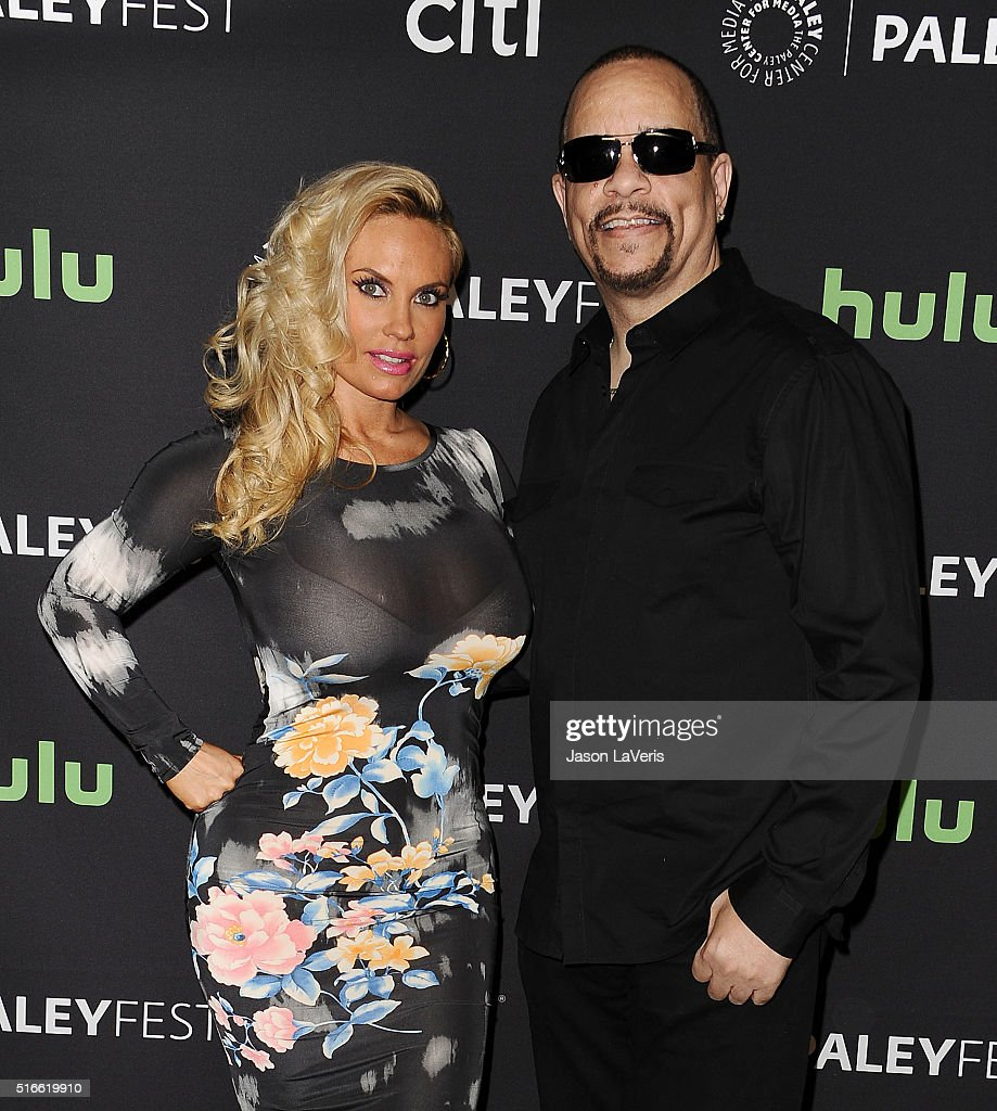 Coco Austin and Ice-T attend the salute to Dick Wolf at the 33rd annual PaleyFest at Dolby Theatre on March 19, 2016 in Hollywood, California.