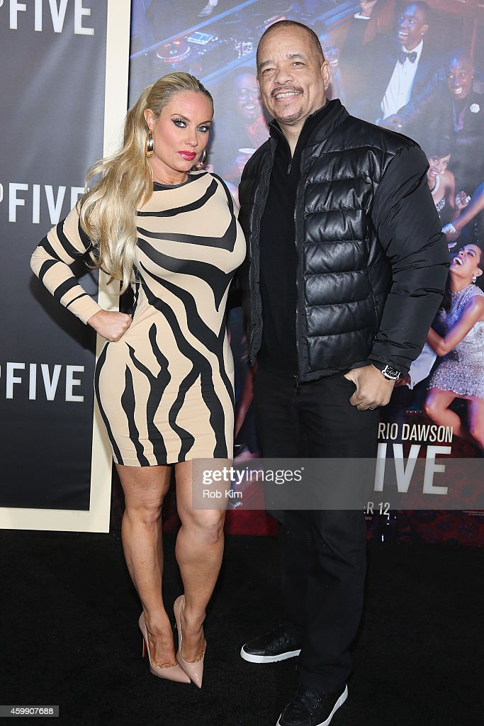 Coco Austin and Ice-T attend the 'Top Five' New York Premiere at Ziegfeld Theater on December 3, 2014 in New York City.