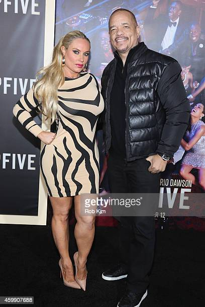 Coco Austin and IceT attend the 'Top Five' New York Premiere at Ziegfeld Theater on December 3 2014 in New York City