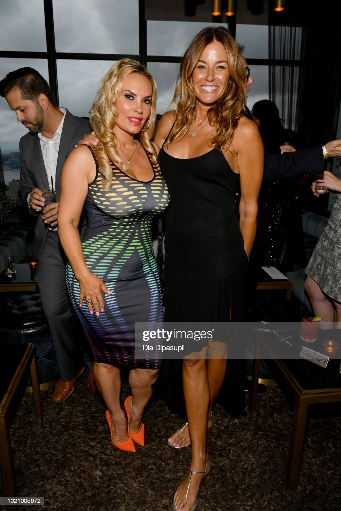 Coco Austin and Kelly Bensimon attend WE tv and Traci Braxton celebrate the new season of Braxton Family Values at The Skylark on August 21, 2018 in New York City.
