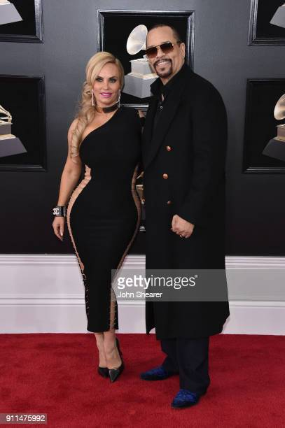 Coco Austin and recording artist Ice-T attend the 60th Annual GRAMMY Awards at Madison Square Garden on January 28, 2018 in New York City.