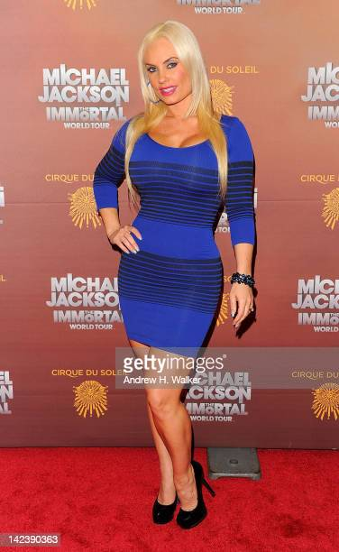 Coco Austin attends Cirque du Soleil's Michael Jackson THE IMMORTAL World Tour New York Premiere Arrivals at Madison Square Garden on April 3 2012 in...