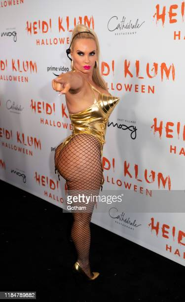 Coco Austin attends Heidi Klum's 20th Annual Halloween Party at Cathédrale on October 31 2019 in New York City