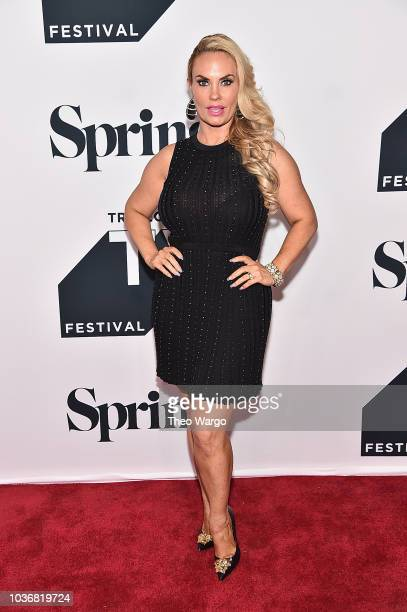 Coco Austin attends the Law Order SVU 20th Anniversary Celebration the 2018 Tribeca TV Festival at Spring Studios on September 20 2018 in New York...