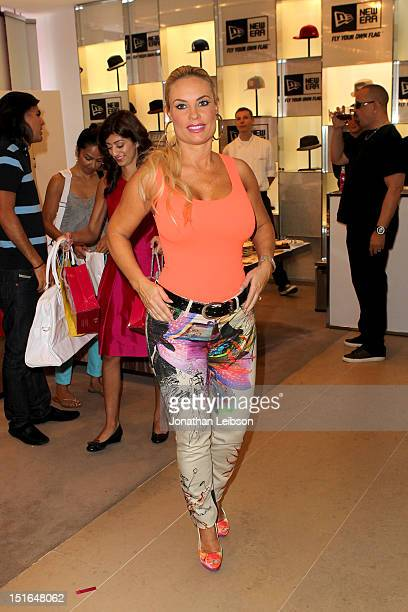 Coco Austin attends Variety Studio presented by Moroccanoil at Holt Renfrew on Day 2 at Holt Renfrew Toronto during the 2012 Toronto International...