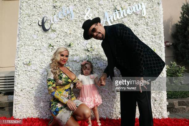Coco Austin Chanel Nicole Marrow and IceT attend the Treach Cicely Evans Wedding at Waterside Reception Hall on September 08 2019 in North Bergen New...