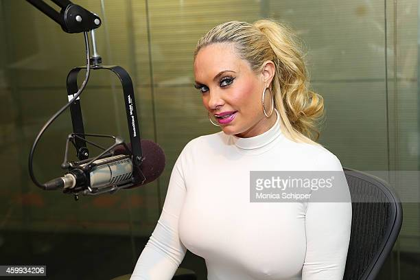 Coco Austin visits SiriusXM Studios on December 4 2014 in New York City