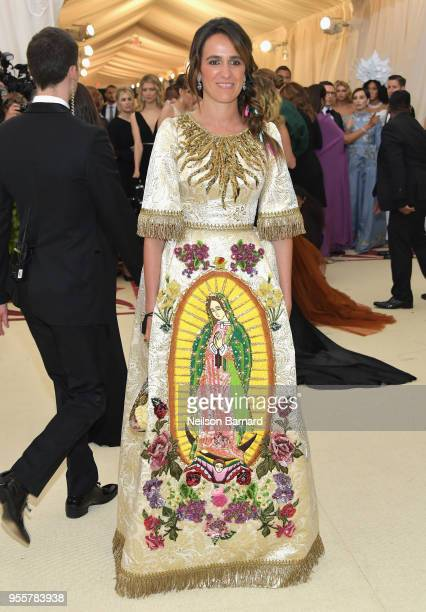 Coco Brandolini d'Adda attends the Heavenly Bodies Fashion The Catholic Imagination Costume Institute Gala at The Metropolitan Museum of Art on May 7...