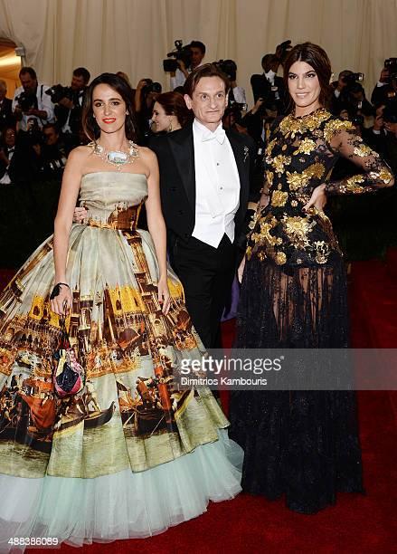 Coco Brandolini D'Adda Hamish Bowles and Bianca Brandolini D'Adda attend the Charles James Beyond Fashion Costume Institute Gala at the Metropolitan...