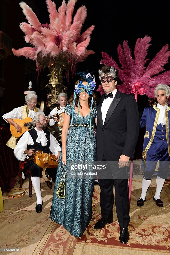 Coco Brandolino D'Adda and Matteo Colombo attend the 'Ballo in Maschera' to Celebrate Dolce&Gabbana Alta Moda at Palazzo Pisani Moretta on July 6, 2013 in Venice, Italy.