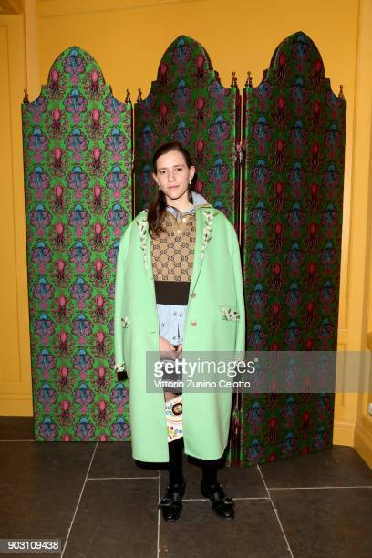 Coco Capitan attends Gucci Garden Opening on January 9 2018 in Florence Italy
