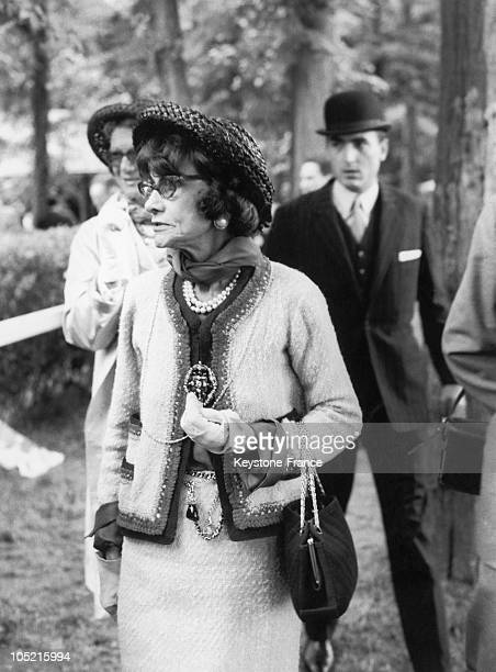 Coco Chanel In Chantilly In 1964