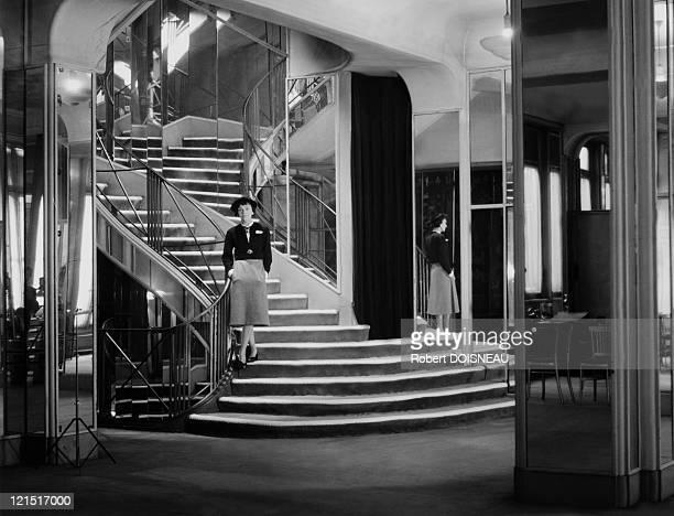 Coco Chanel in her shop Paris 1953