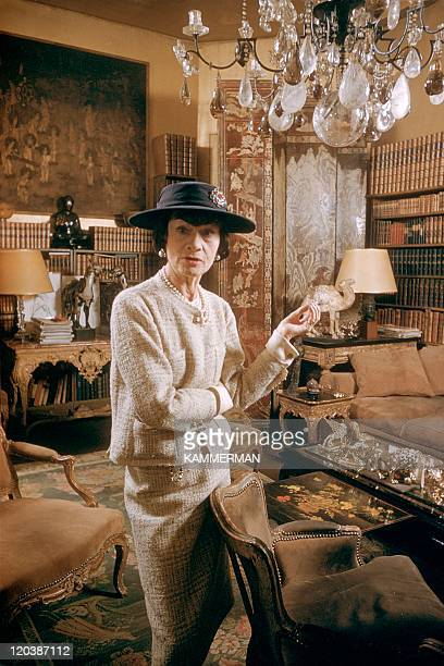 Coco Chanel in Paris France in 1959 Miss Coco Chanel Coco Chanel's appartment Cambon street