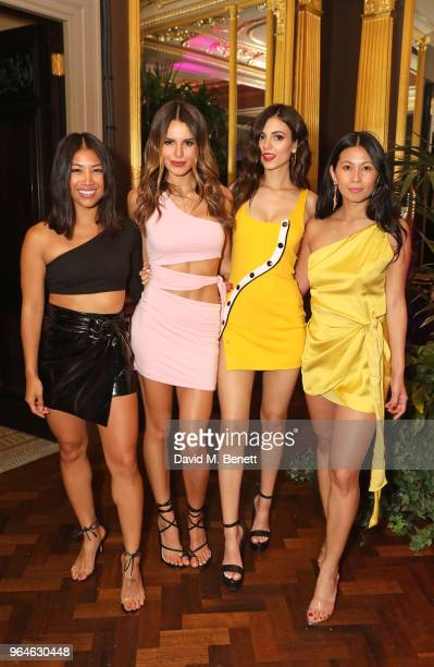 Coco Cuenco Madison Grace Victoria Justice and Raissa Gerona attend the REVOLVE 'LA Party In London' hosted by Winnie Harlow at Hotel Cafe Royal on...