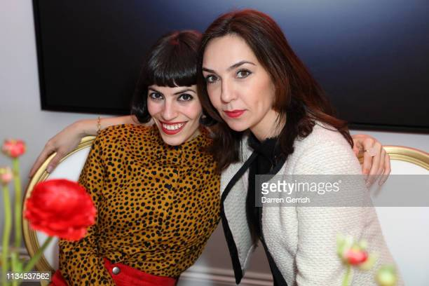 Coco Davez and Chloe Lopez attends as Maddox Gallery hosts an intimate dinner in celebration of woman in art on International Women's Day on March 08...